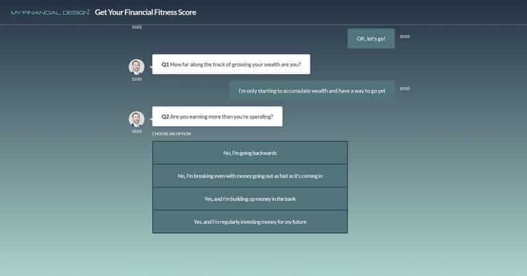 My Financial Fitness Score My Financial Design